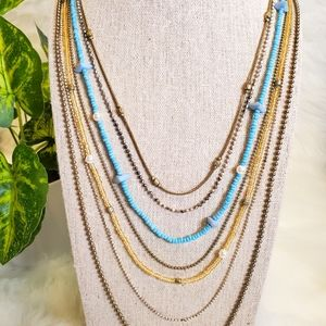 Six-Layer Beaded Necklace